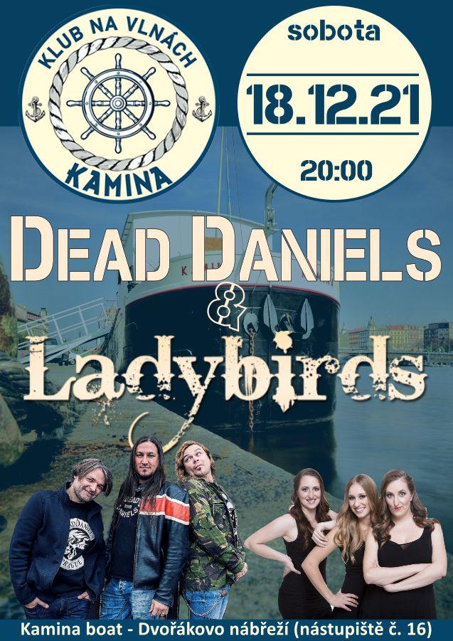 Vánoční koncert Dead Daniels a Ladybirds na lodi Kamina